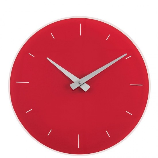 Eone, Orologio Parete Rosso 40cm