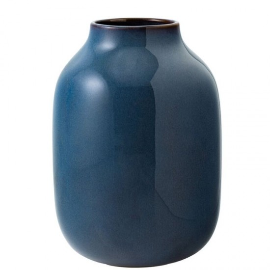 Lave Home, Vaso Nek Blue Tinta Unita 22cm