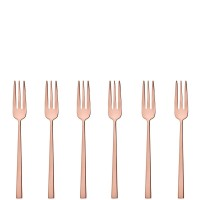 Rock PVD Copper, 6 Forchettine Dolce