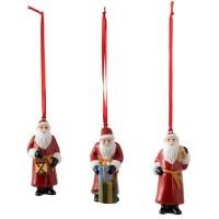 """Nostalgic Ornaments, Set 3 Addobbi """"Babbo Natale"""""""