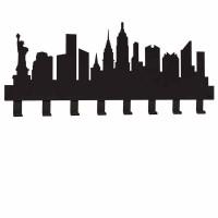 New York, Appendiabiti Nero 82cm