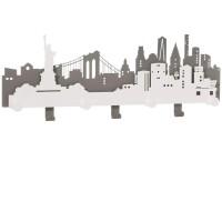 N.Y.C., Appendiabiti Ardesia e Bianco Marmo