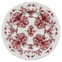 Babele Rosso, Piatto Segnaposto 31 cm forma Duchessa