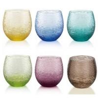 Multicolor, 6 Bicchieri Acqua