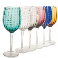 Shiraz, Set 6 Calici Vino Multicolor