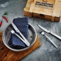 SteakBesteck, 6 Forchette e 6 Coltelli Bistecca