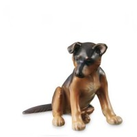 Figurina Cucciolo di Pastore Tedesco 11cm