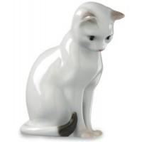 Figurina Gatto Bianco Seduto