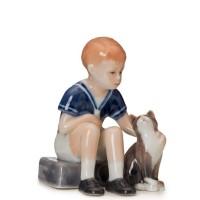 Figurina Jens con Gatto mini