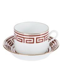 Labirinto Scarlatto, Tazza Tè con piatto