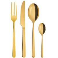 Linear Gold, Servizio Posate 24 pezzi Oro