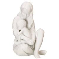 Figurina Mamma con Bimbo che Dorme bianca