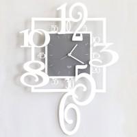 Amos, Orologio Parete a Pendolo Bianco 50cm