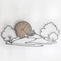 Orologio Paesaggio Fango 98cm