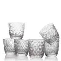 Sixties, set 6 Bicchieri Trasparenti