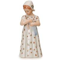 Statuina Mary con Vestito Bianco 19cm