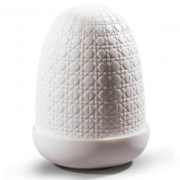 Wicker Dome Lamp, Lampada da Tavolo cordless 15cm
