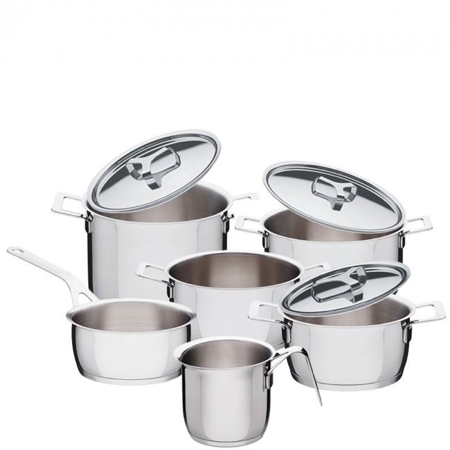 Pots&Pans, Batteria di Pentole 9 pezzi, Acciaio, Alessi | eBay